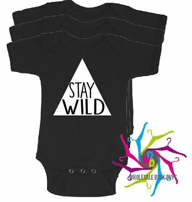 Wholesale Bulk Lot Baby Rompers - Stay Wild X 4