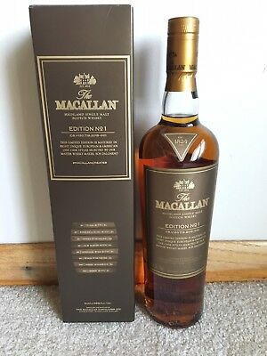 Macallan Edition No.1 Single Malt Scotch Whisky  Discontinued & RARE