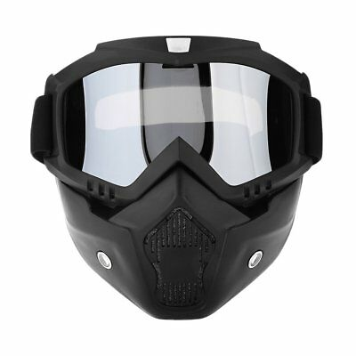 Modular Mask Detachable Goggles And Mouth Filter Open Face Motorcycle Helmet