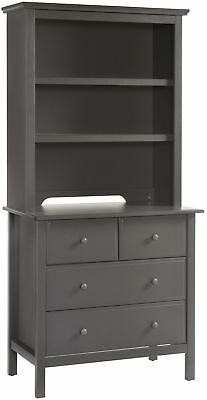 DaVinci Autumn Bookcase / Hutch In Slate, New Storage Book Organization System