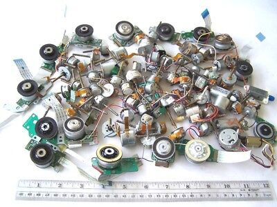 Very Small Computer DC Motors Lot of 100 for Collage Assemblage Craft Supply