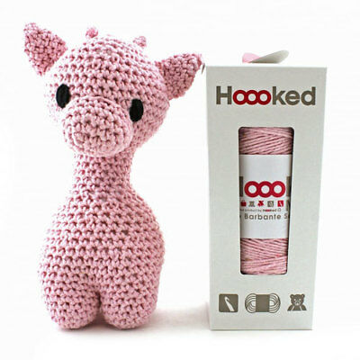 Hoooked  DIY Eco Barbante Ziggy Giraffe Crochet Kit - Blossom 22cm