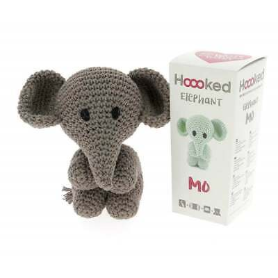 Hoooked  DIY Eco Barbante Mo Elephant Crochet Kit - Taupe 20cm