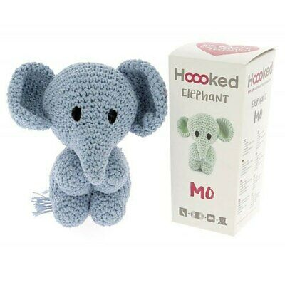 Hoooked DIY Eco Barbante Mo Elephant Crochet Kit - Provence 20cm