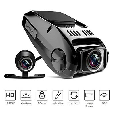 Dual Dash Cam Tryace T8P Full HD1080P 170 Degree Wide Angle Dashboard Camera ...