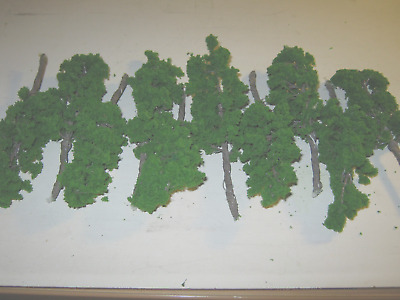 Plastic trees suitable for model dioramas