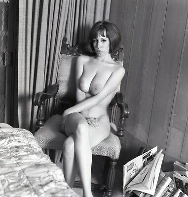 1960s Ron Vogel Negative, busty nude pin-up girl Cathy Whitmore, t991907