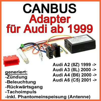 Audi CanBus Interface A2 A3 A4 A6 ab 1999 Adapter Autoradio Nachrüstradio RADIO