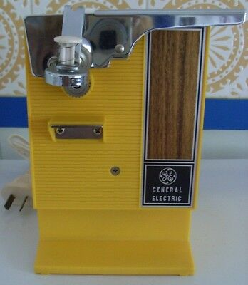 Vintage Retro Yellow Ge  Electric Can Opener / Knife Sharpener