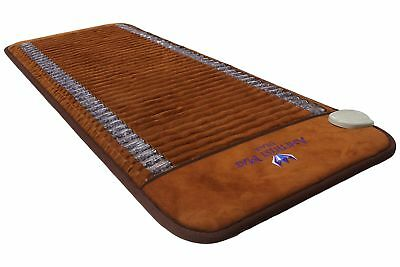 Ereada FIR Amethyst Mat - Negative Ion Infrared Heating Pad -Midsize 24x59 Brown