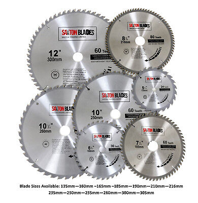 Saxton TCT Circular Wood Saw Blades 135mm to 305mm Bosch Makita Dewalt Festool