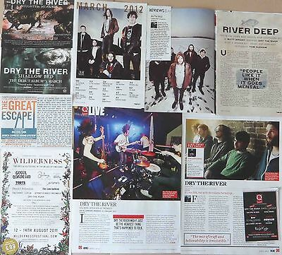 DRY THE RIVER : CUTTINGS COLLECTION -adverts interview-