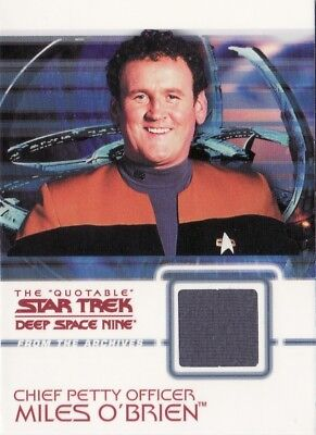 Quotable Star Trek Deep Space Nine DS9 Chief Miles O'Brien C6 Costume Card