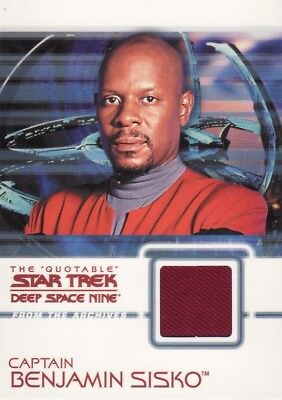 Quotable Star Trek Deep Space Nine DS9 Captain Benjamin Sisko C1 Costume Card