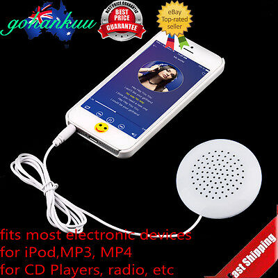 Mini White 3.5mm Pillow Speaker for MP3 MP4 Player iPhone iPod CD Radio MNYKS