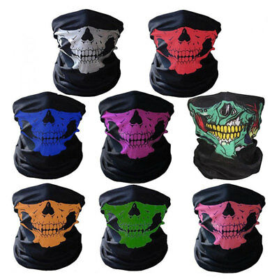 Skull Bandana Face Shield Mask Fishing Cycling Neck Gaiter Tube Scarf Headwear