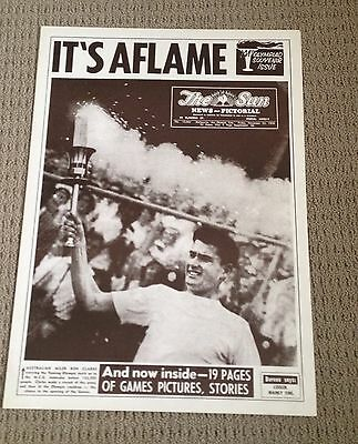 The Sun Newspaper Melbourne Front Page Melbourne Olympics Nov 1956