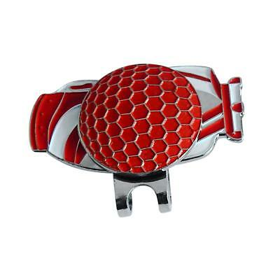 Lightweight Alloy 25mm Golf Ball Bags Marker with Magnetic Hat Clip Red