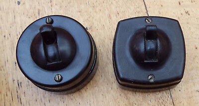 Vintage 1930's 1940's Crabtree  Britmac Bakelite & Vitreous English Light Switch