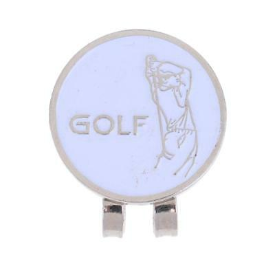 Sturdy Golfer Magnetic Hat Clip with Golf Ball Marker Fit for Golf Cap White