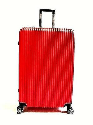 """28"""" Lightweight ABS Red Hard Shell Suitcase Large  Luggage 4 Wheel New Arrival"""