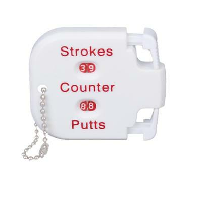 Golf Count Stroke Shot Putt Score Counter Scoring Keeper With Key Chain