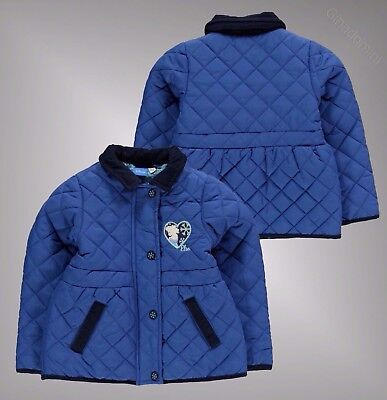 Infant Girls Branded Character Full Zip Coats Fully Padded Jacket