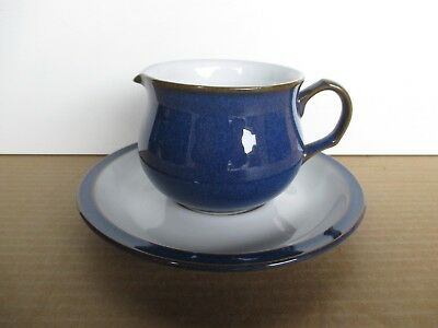Denby Imperial Blue Cream Jug with Stand New 1st Quality Excellent Condition