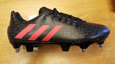 Adidas Mens Malice SG Black/Red Rugby Boots Size UK 6