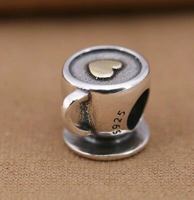 Pandora 925 sterling silver coffee cup charm