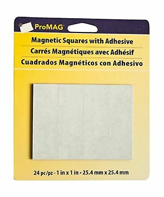 Magnum Magnetics-Corporation ProMAG Square Flexible Magnets with Adhesive, 1""