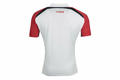 VX-3 Mens Help for Heroes England 2018/19 Rugby Polo Shirt T-Shirt Top White