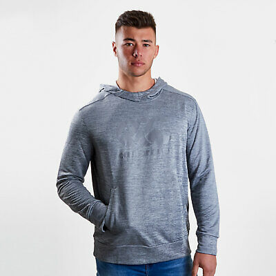 Canterbury Mens Vapodri Logo Hooded Rugby Sweat Grey Top Sports Training