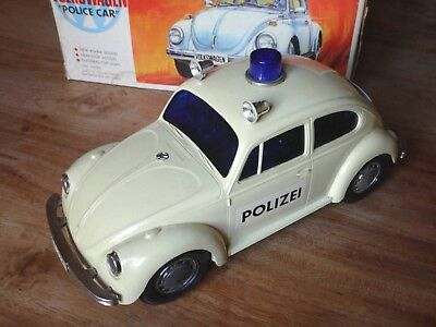 ALPS VOLKSWAGEN VW KÄFER POLICE CAR POLIZEI 1970er - GERMAN VERSION IN BOX -RAR