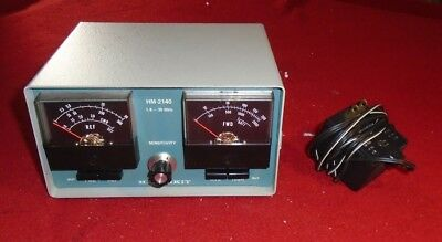 Vintage Heathkit HM-2140 SWR Wattmeter for HAM/Amateur Radio with Power Supply