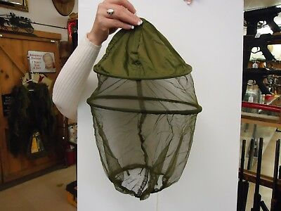 Military Issue Insect Mosquito Head Net Jungle Hat Bee Keeper Surplus New