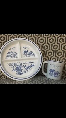 Bo Peep Childrens Cup And Plate