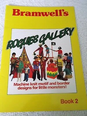 ORIGINAL 1987 'BRAMWELL'S ROGUES GALLERYNo2' MACHINE KNIT MOTIF & BORDER DESIGNS