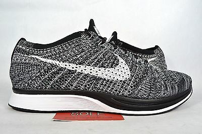 5882e2648ab3 Nike Flyknit Racer OREO 2.0 BLACK WHITE COOKIES   CREAM 526628-012 sz 8  Women