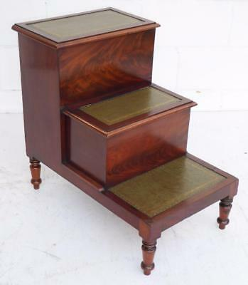 Regency Flame Mahogany Step Commode