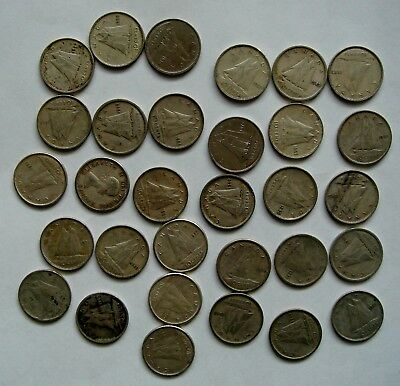 Lot Of 31 Canadian Dimes Coins