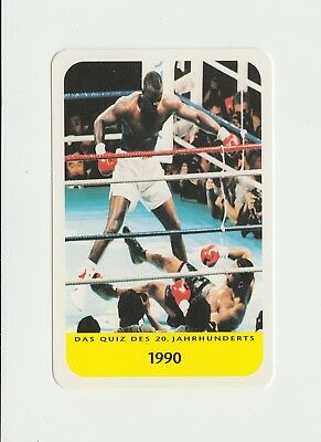 Boxing : Mike Tyson v Buster Douglas : attractive German collectable game card