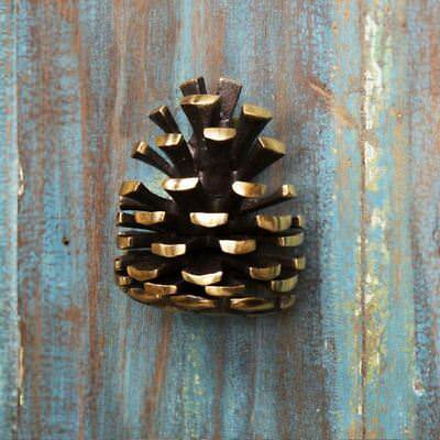 Solid Brass Pine Cone Door Knocker - Supplied With Fixings