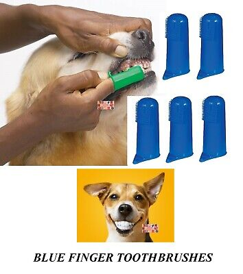 5 PET DOG CAT Finger Pro DENTAL Teeth RUBBER TOOTH BRUSH ORAL CARE Toothbrushes