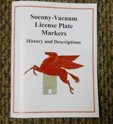 New 10th Edition Update Socony-Vacuum License Plate Topper Booklet - Pegasus