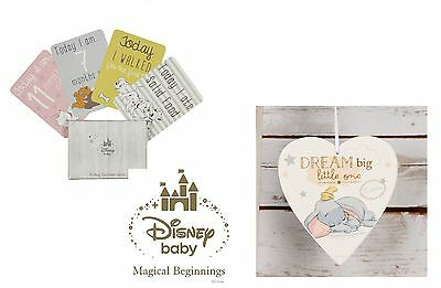 Disney Magical Beginnings Heart Plaque & Milestone Cards - Fab New Baby Gift