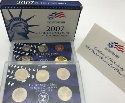 United States 2007 Proof Mint Set 50 State Quarters USA - United States KMS