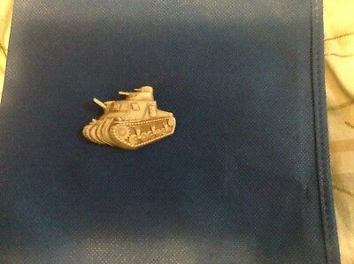 Vintage Original Wwii Ww2 Military Celluloid Army Tank Sweetheart Pin Brooch