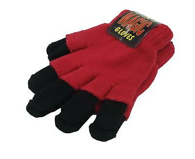 Kids / Childrens 2 in 1 Magic Gloves - Black and Dark Pink