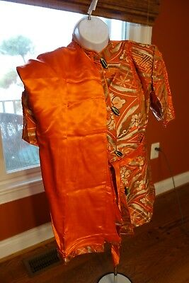 Vintage Antique Chinese Silk Clothing Robe Set  Oriental Asian Beautiful